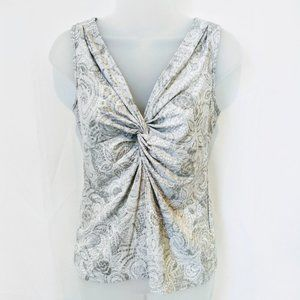 Arianne Gray and White Top from WHBM